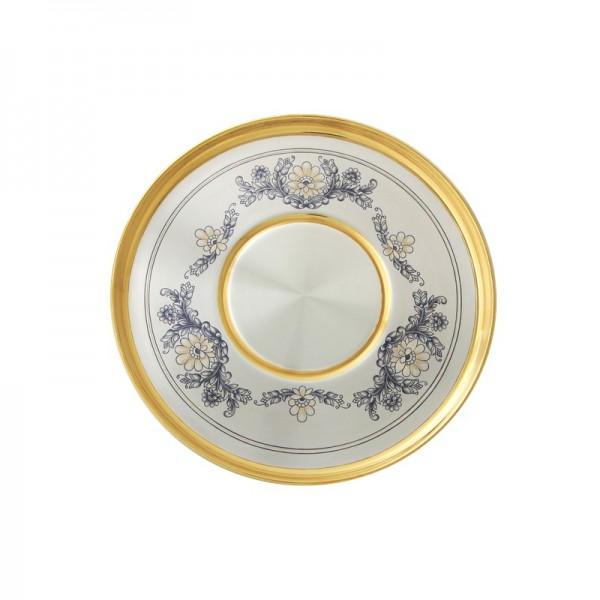 Serviertablett in Sterlingsilber vergoldet Kollektion Astra Classic
