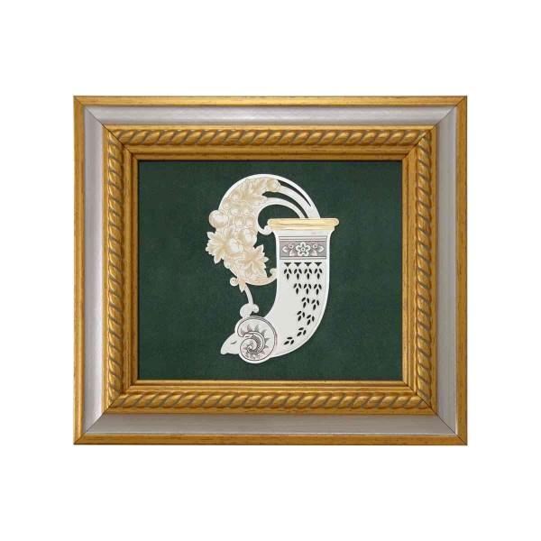 Reliefbild & Wandbild 925 Silber Horn des Reichtums