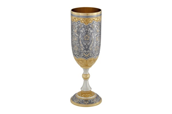 Weinpokal aus Sterlingsilber vergoldet