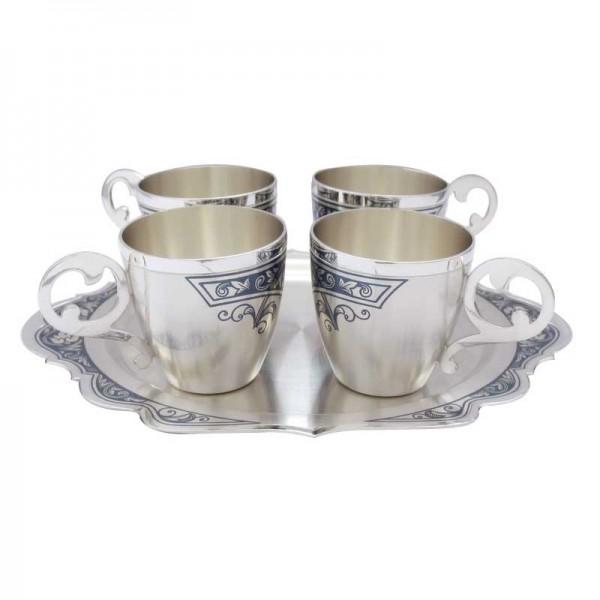 Schnapsbecher Set 5-teilig 35 ml aus 925 Silber