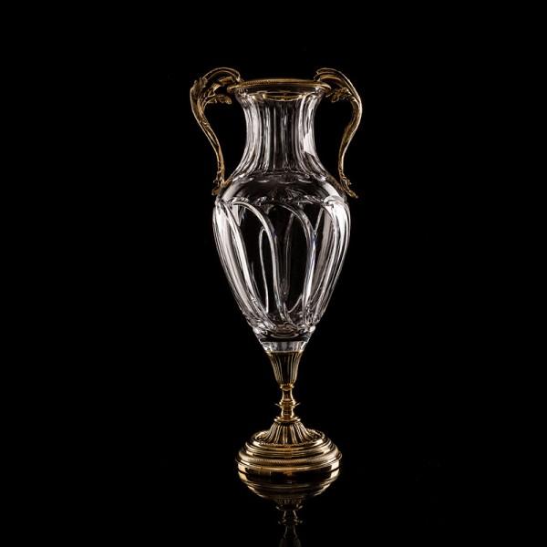 Sofia Vase Kristallglas 24K vergoldet 49x22 cm Bambou