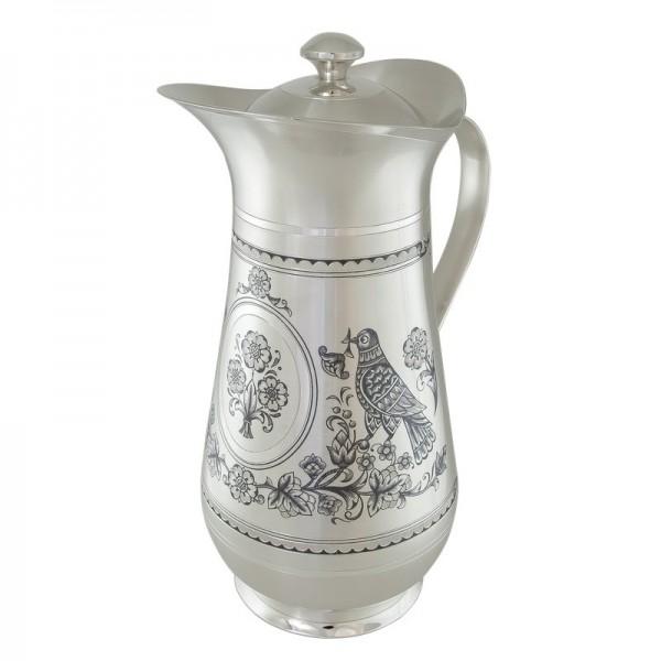 Karaffe mit Deckel 1,5 L aus 925 Silber Turteltaube
