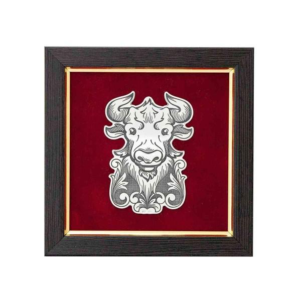 Reliefbild & Wandbild 925 Silber Stier