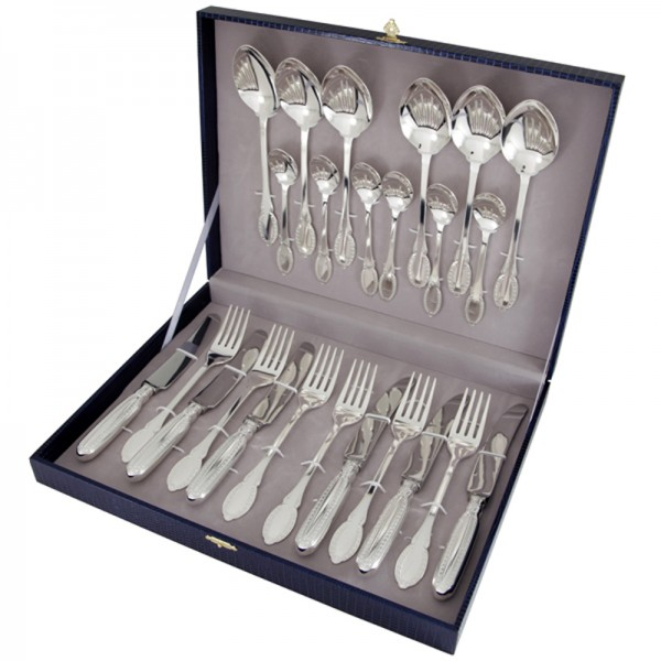 Silberbesteck Set 24-teilig in 925 Sterling Silber Kollektion - Fistive