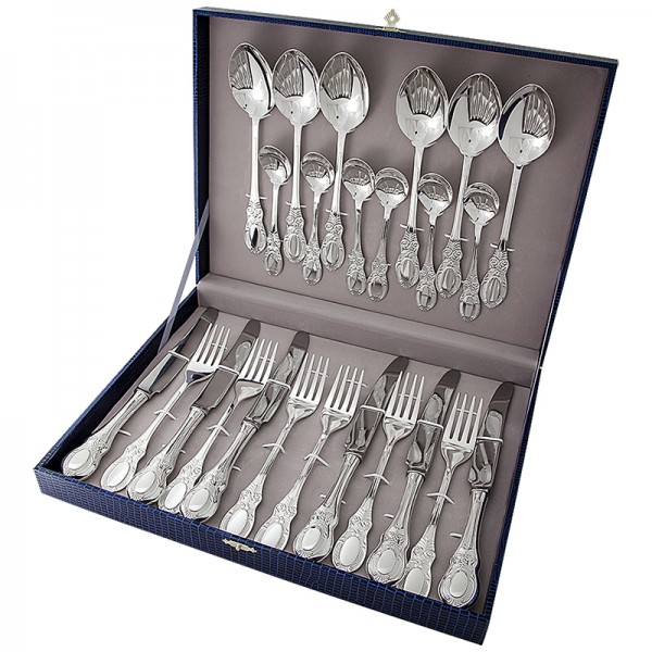 Silberbesteck Set 24-teilig in 925 Sterlingsilber Kollektion - Merchant