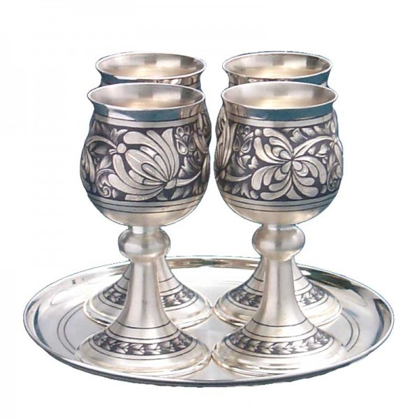 Schnapsbecher Set 5-teilig 50 ml aus 925 Silber