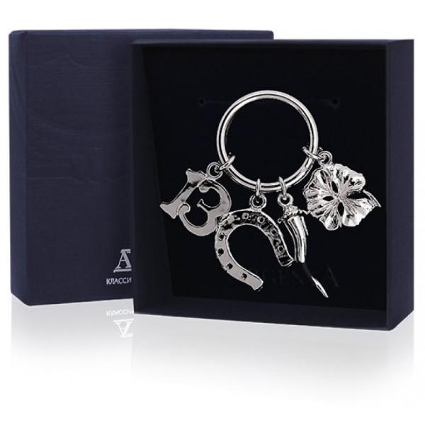 """Schlüsselanhänger """"Viel Glück"""" aus Sterling Silber"""