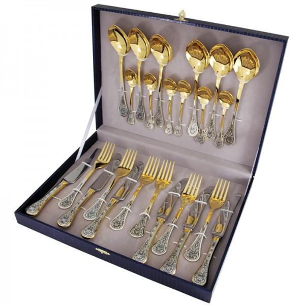 Silberbesteck Set 24-teilig in 925 Sterlingsilber Kollektion - Gildet