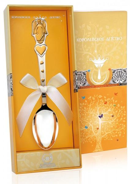 Tauf- & Geburtslöffel 925 Silber vergoldet Engel