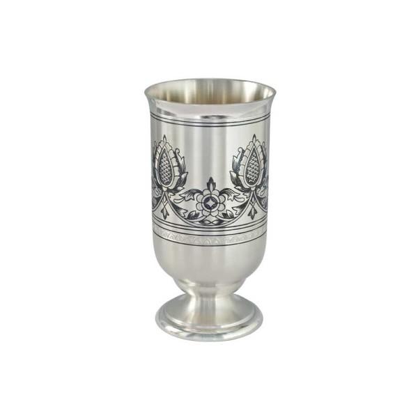 Becher für Whiskey aus Echtsilber mit Zeichnung 190 ml