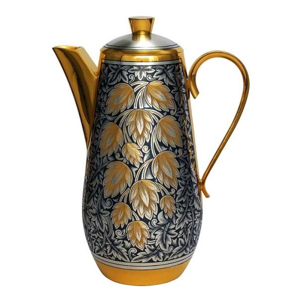 "Kaffeekanne 550 ml aus Sterlingsilber vergoldet ""Hopfen"""