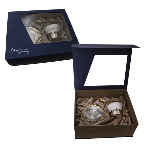 Geschenkset Teetasse & Untertasse & Teelöffel 925 Silber