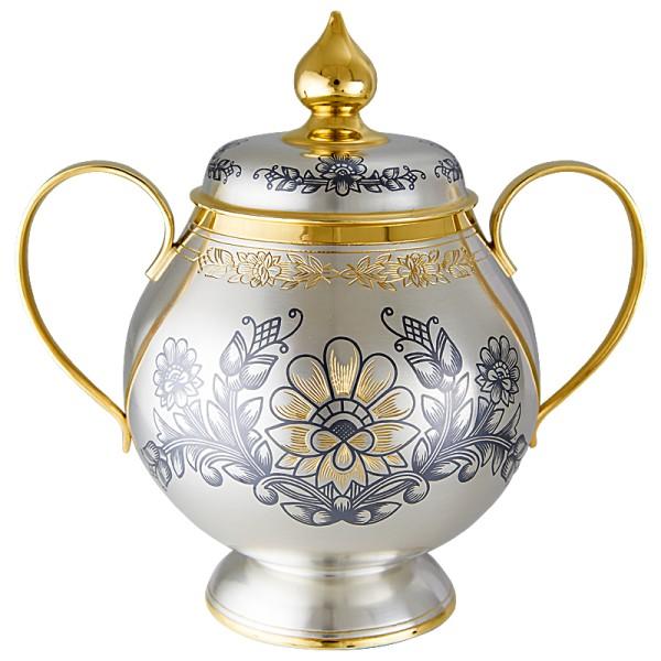Zuckerdose aus 925 Silber vergoldet 400 ml Kollektion Astra Classic
