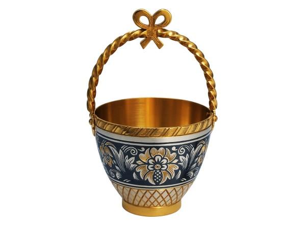 "Exklusiv Souvenir ""Körbchen"" aus Echtsilber vergoldet, Handarbeit"