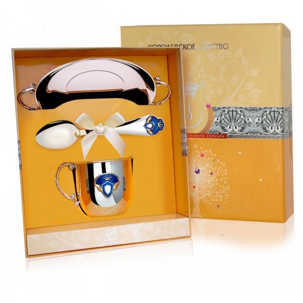 Geschenkset für Babys 925 Silber Prinz in wertvoller Geschenkverpackung