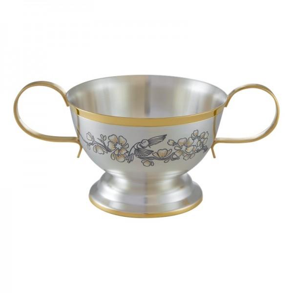 """Schale 200 ml """"SAKURA"""" aus 925 Silber vergoldet"""