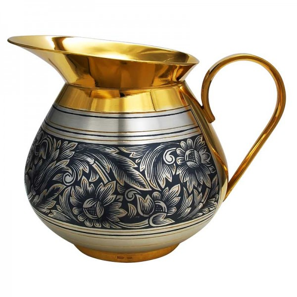 Milchkanne aus Silber vergoldet 180 ml