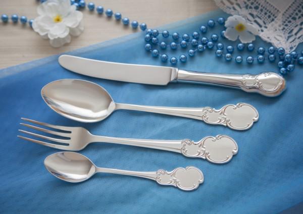 Silberbesteck Set 4-teilig in 925 Sterlingsilber Kollektion - Venedig