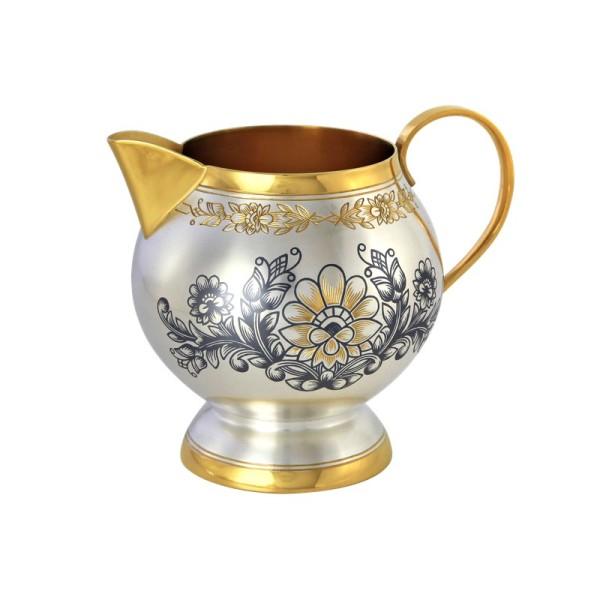 Milchkännchen 220 ml in Sterling Silber vergoldet Astra Classic