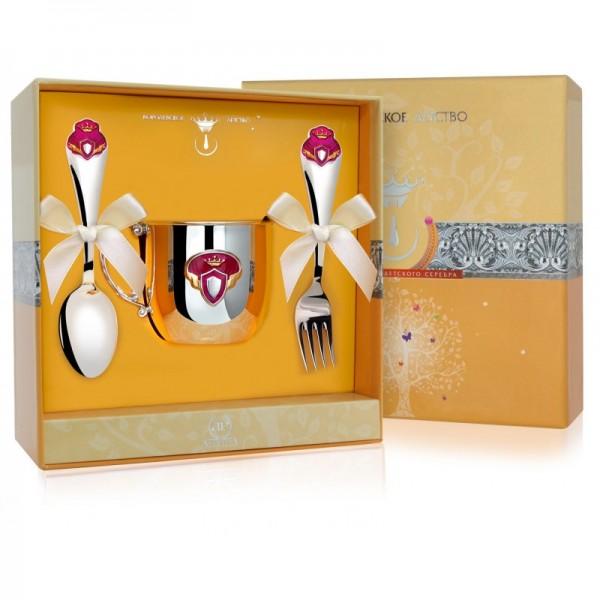 Geschenkset für Babys 925 Silber Prinzessin 3-teilig in Geschenkverpackung