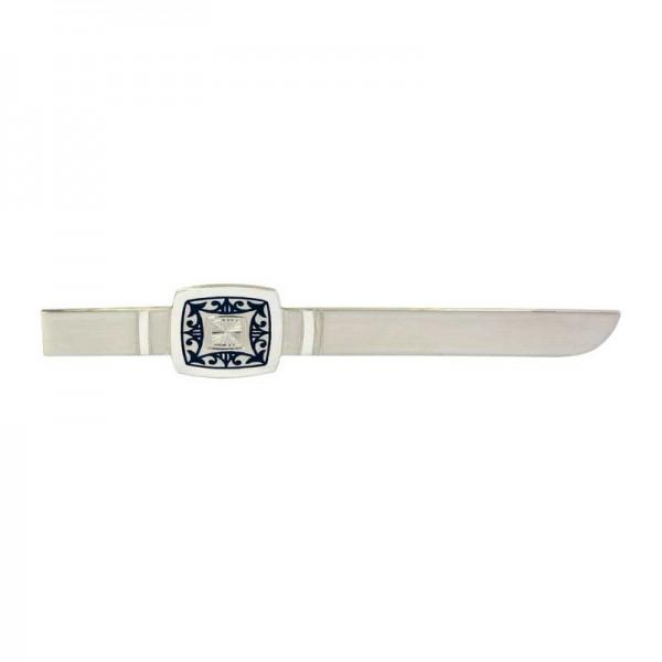 Luxus 925er Sterlingsilber Krawattenklammer, Handarbeit