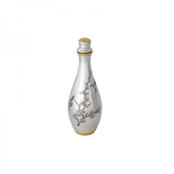 """Karaffe aus Silber vergoldet 350 ml """"SAKURA"""" Schnapsflasche"""