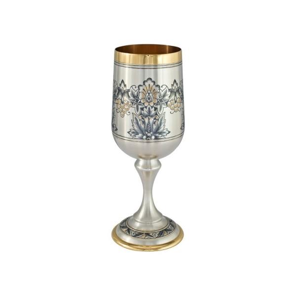 Pokal aus Sterlingsilber vergoldet mit Zeichnung 210 ml