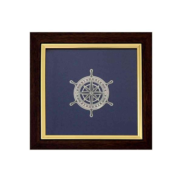 Reliefbild & Wandbild 925 Silber Windrose