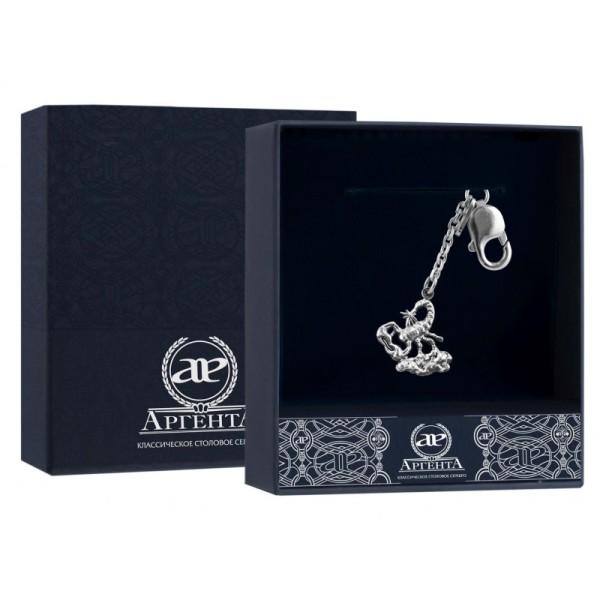925 Silber Schlüsselanhänger mit Sternzeichen Skorpion