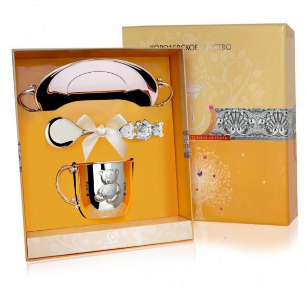 Geschenkset für Babys 925 Silber Bär in Geschenkverpackung
